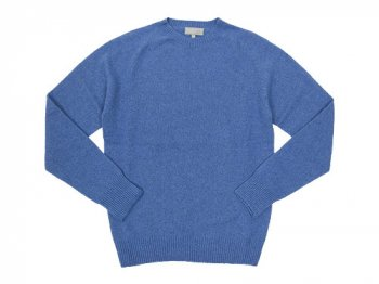 MARGARET HOWELL COTTON CASHMERE KNIT 110BLUE 〔メンズ〕