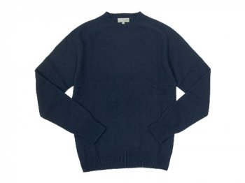 MARGARET HOWELL COTTON CASHMERE KNIT 120NAVY 〔メンズ〕