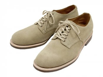 MARGARET HOWELL SUEDE DERBY SHOES 043STONE 〔メンズ〕