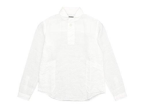 LOLO リネンプルオーバーシャツ WHITE