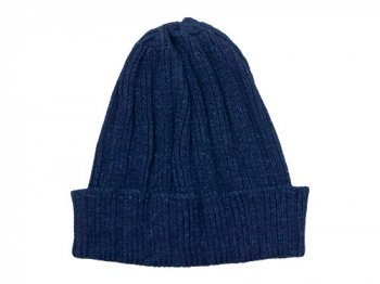 maillot indigo cotton knit cap ライトインディゴ