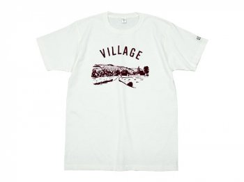 【別注】 ENDS and MEANS Village Tee WHITE