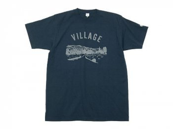 【別注】 ENDS and MEANS Village Tee NAVY