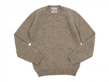 Jamieson's CREW NECK KNIT SOLID 272Fog