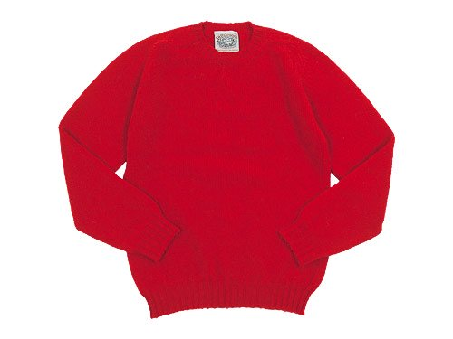 Jamieson's CREW NECK KNIT SOLID 500Scarlet