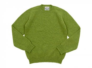 Jamieson's CREW NECK KNIT SOLID 1140Granny Smith