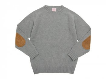 BRICK CREW NECK KNIT パッチ付き CHROME
