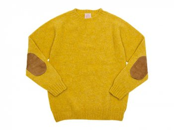BRICK CREW NECK KNIT パッチ付き NUGGET