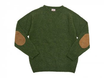 BRICK CREW NECK KNIT パッチ付き LODEN