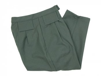 TUKI tapered pants 23sage green