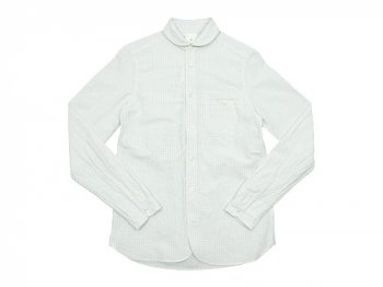 maillot sunset gingham round work shirts WHITE x WHITE