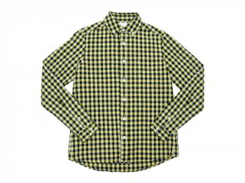 maillot sunset big gingham B.D. shirts BIG BLACK x YELLOW