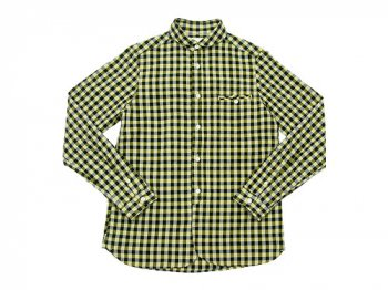 maillot sunset big gingham round work shirts BIG BLACK x YELLOW