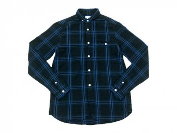 maillot W gauze check shirts GREEN x BLUE