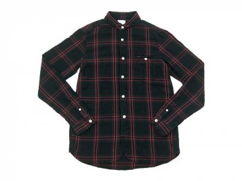 maillot W gauze check shirts BROWN x RED