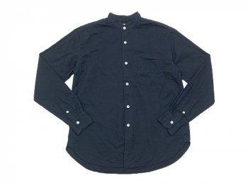 maillot gauze cotton stand collar shirts NAVY