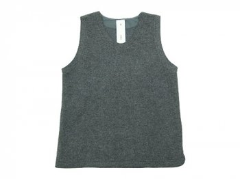 maillot wool melton vest DARK GRAY