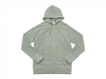 maillot wool sweat zip parka GRAY