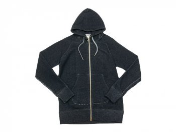 maillot wool sweat zip parka NAVY