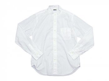 maillot b.label broad stand collar shirts WHITE