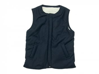 maillot b.label melton vest NAVY