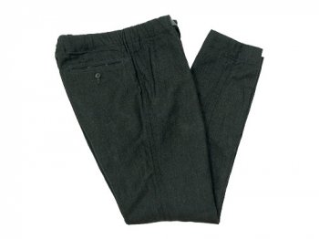 maillot wool linen easy pants CHARCOAL GRAY