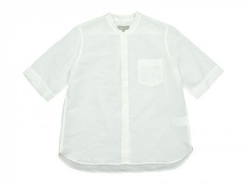 MARGARET HOWELL COTTON LINEN CHAMBRAY S/S SHIRTS 030WHITE 〔レディース〕