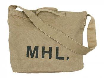 MHL. HEAVY CANVAS SHOULDER BAG  040OCHRE