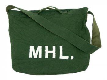 MHL. HEAVY CANVAS SHOULDER BAG  143MOSS GREEN