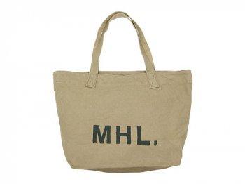 MHL. HEAVY CANVAS TOTE BAG 040OCHRE