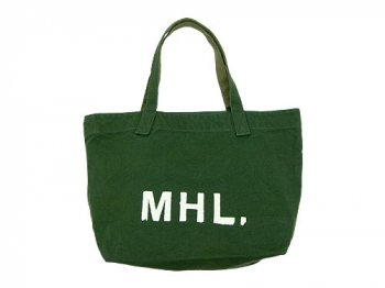 MHL. HEAVY CANVAS TOTE BAG 143MOSS GREEN