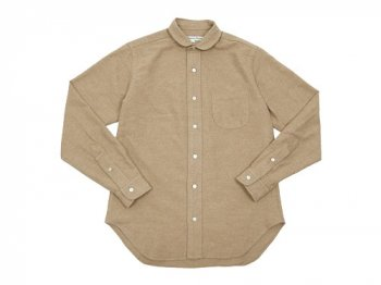 DAILY WARDROBE INDUSTRY NEW STANDARD ROUND COLLAR SHIRT BEIGE