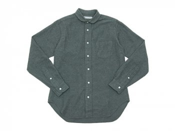 DAILY WARDROBE INDUSTRY NEW STANDARD ROUND COLLAR SHIRT GRAY