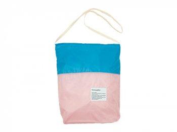StitchandSew Nylon Subbag BEIGE x BLUE x PINK