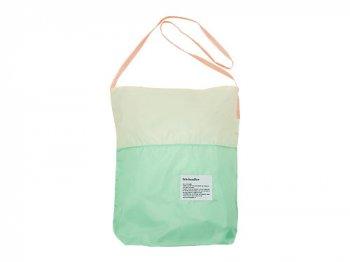 StitchandSew Nylon Subbag PINK x BEIGE x GREEN