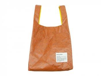 StitchandSew Tyvek shopping bag BROWN x YELLOW