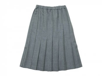 Charpentier de Vaisseau Pleated Skirt Wool GRAY
