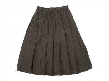 Charpentier de Vaisseau Pleated Skirt Wool BROWN