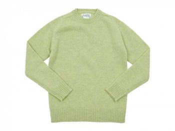 Charpentier de Vaisseau Shetland Crew Sweater LIGHT GREEN MIX