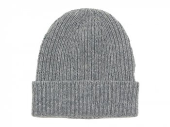 William Brunton Hand Knits Rib Hat LIGHT GRAY
