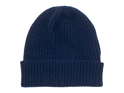 William Brunton Hand Knits Rib Hat NAVY