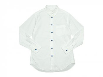 EEL 陶器釦のシャツ 11WHITE