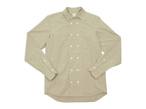 TATAMIZE DOUBLE BRESTED SHIRTS BEIGE