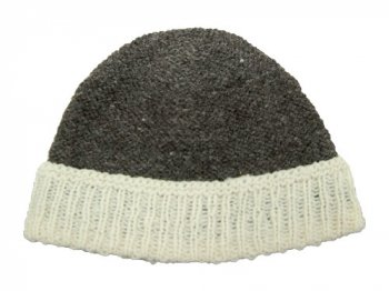 TATAMIZE HAND MADE KNIT CAP BROWN