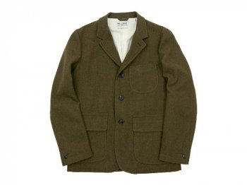 ENDS and MEANS Grandpa Wool Jacket OLIVE