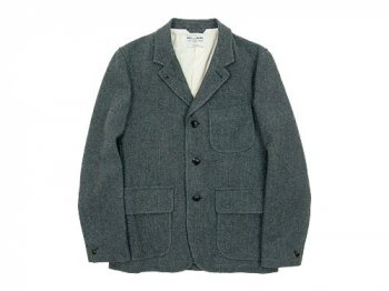 ENDS and MEANS Grandpa Wool Jacket GRAY