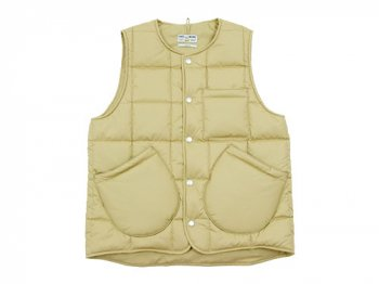 ENDS and MEANS Quilting Vest BEIGE