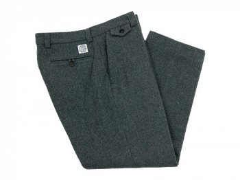 ENDS and MEANS Grandpa Wool Trousers GRAY