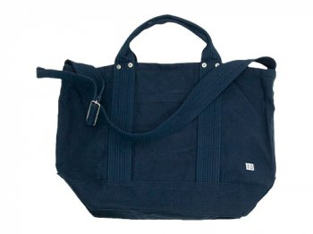 ENDS and MEANS 2way tote bag NAVY