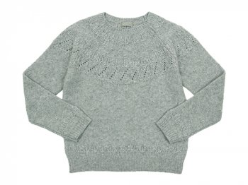 MARGARET HOWELL TEXTUERD MERINO JUMPER KNIT 020GRAY 〔レディース〕